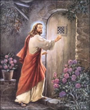 Gambar Yesus Mengetuk pintu.