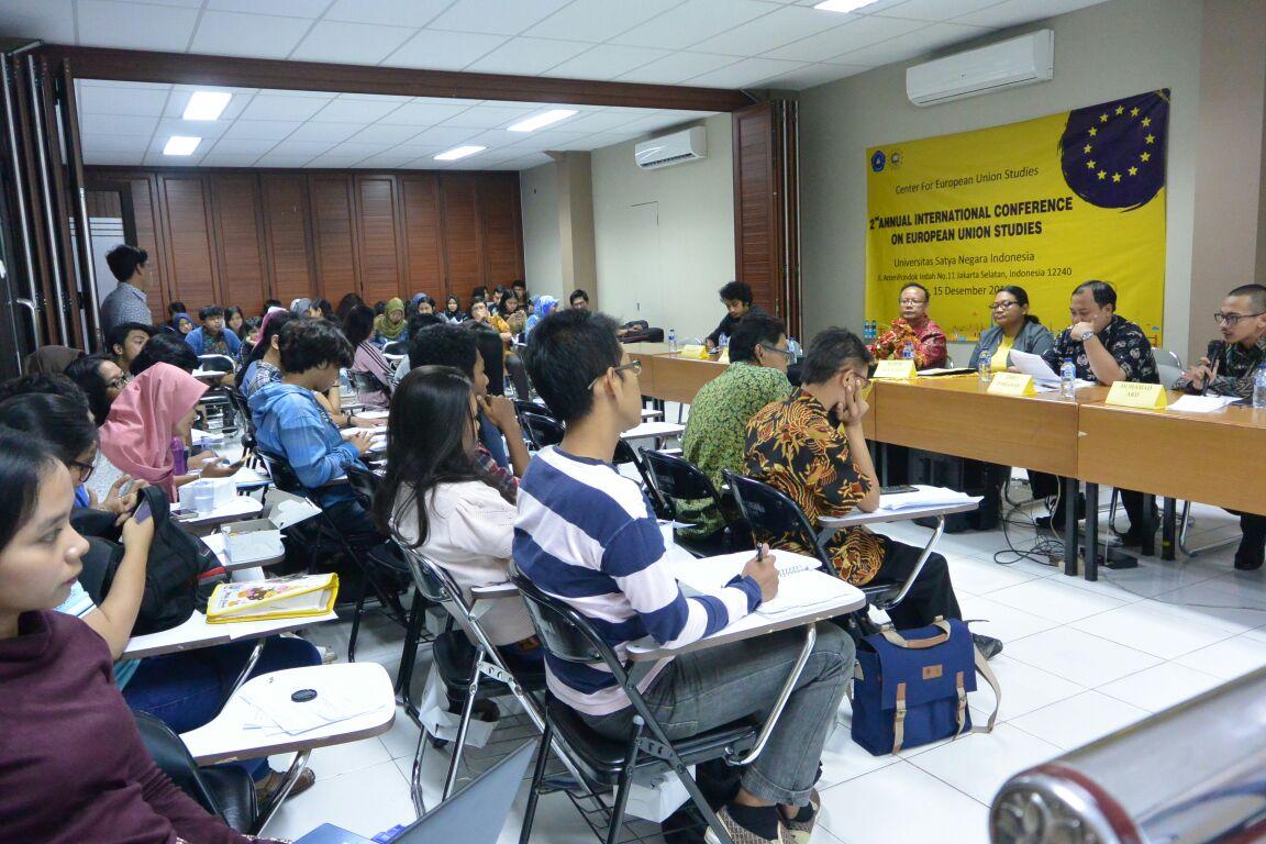 Diskusi Uni Eropa di UKSW Salatiga Jawa Tengah